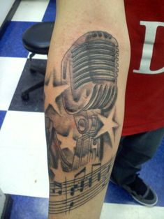 Hip Hop Microphone Tattoo microphone tattoos designs ideas and ...