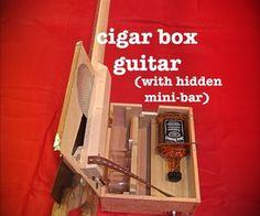 Cigar Box Guitar with Hidden Whiskey Mini-Bar