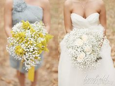 babys breath wedding flowers adelaide - bunch on the right