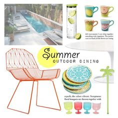 """""""SUMMER OUTDOOR DINING"""" by tiziana-melera ❤ liked on Polyvore featuring interior, interiors, interior design, home, home decor, interior decorating, Mudhut, blomus, Bend and M&Co"""