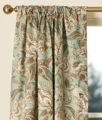Paisley Jacobean Lined Rod Pocket Curtains   Pair_118258