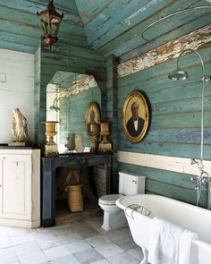 We love this rustic bathroom!