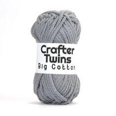 Crafter Twins Big Cotton yarn ball in light grey