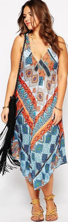 this type of dress went from groovy hippie to feverish disco in the 70s - read a little history of boho and see some cool plus size dresses for spring n summer - www.boomerinas.co...
