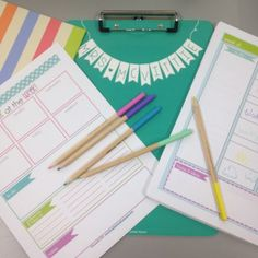 Cute and Editable Daybook! Love the bright preppy colors!
