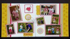 Spring Fever simply scrappin kit, Easter layout