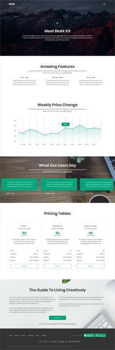 Blokk is clean and modern design responsive HTML5 template for multipurpose corporate business website with 12 niche homepage layouts to download click on the image. #webdesign #businesswebsite