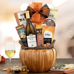 Thanksgiving Gift Baskets - Thanksgiving Wine Gift Basket Holiday Gift Baskets, Wine Gift Baskets, Holiday Gifts, Thanksgiving Gifts, Wine Gifts, Free Shipping, Food, Wine Baskets, Xmas Gifts