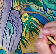 이문성 작가와 함께하는 궁중화조도 그리기 Ⅲ | 월간민화 Korean Painting, Traditional Paintings, Folk Art, Diy And Crafts, Illustration, Popular Art, Illustrations, Character Illustration