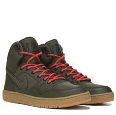 Nike Men's Son of Force Mid Winter Flash Sneaker Boot Winter Sneakers, High Top Sneakers, Sneakers Nike, Sneaker Boots, Real Leather, Nike Men, Hiking Boots, Running Shoes, Athletic Shoes