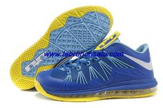 07d61a38ff45e Cheap 2013 Nike Air Max Lebron 10 Low Blue Yellow For Wholesale Nike Lebron