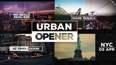 After Effects Urban Opener