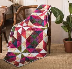 If you love color, color and more color, you'll love these 6 stunning batik quilt kits that feature your favorite collections! These quilts and table runners show off the marbled radiance of batik fabrics to their fullest potential.