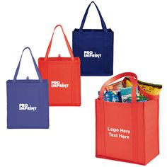 Promotional Non Woven Little Grocery Tote Bags  - best for supermarket and grocery shop promotions. Shop today! #promotionalproducts #giveaways #customtotes #shopping #nonwoven
