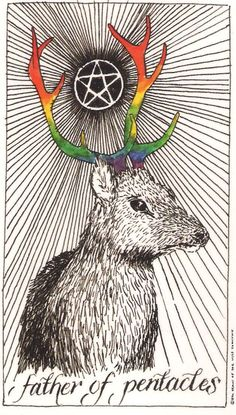 King of Coins - The Wild Unknown Tarot by Kim Krans