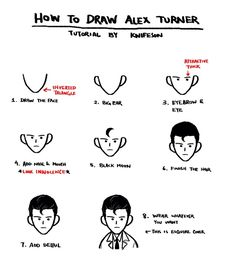 How to draw Alex Turner