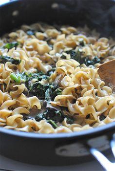 Portobello Mushroom + Kale Stroganoff