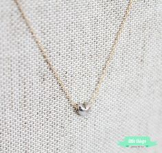 Tiny Heart Necklace  Delicate Gold Necklace by LittleThingsByTCY, $28.00