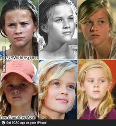 Reece Witherspoon & Daughter Ava.. Wow they are the same person!