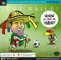 """#ElCartonDelDia para @PurakuraWeb """"QUE BAILE A URUGUAY"""" @miseleccionmx@CA2016 @RafaMarquezMX #MEXvsURU"""