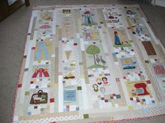 """The details(at site) of this """"The Things I Love"""" quilt are wonderful.quilt by Laura Weathers"""