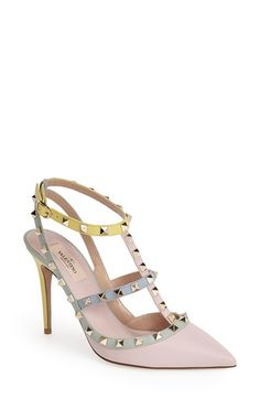 $1145 Valentino 'Rockstud Watercolor' T-Strap Pump (Women) available at #Nordstrom