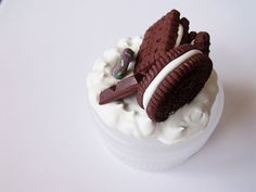 Kawaii Chocolate Cookies and Cream Decoden by CapricaAccessories, $12.00