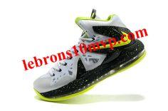 Lebron X PS Elite Pure Platinum Lime Green Volt 577b9cb2e188