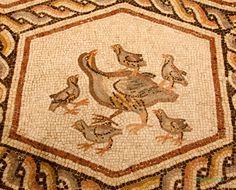 0148 Lod Mosaic pheasant family-L.jpg (744×600)