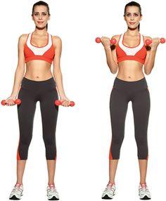 exercícios para os braços - rosca simuntânea