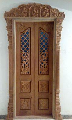 House Main Door Design, Single Door Design, Wooden Front Door Design, Pooja Room Door Design, Door Design Images, Indian Doors, Wardrobe Door Designs, Window Grill Design, Pooja Rooms