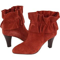 Rust Suede booties come visit my closet please