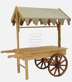 Portable Wooden Display Cart, Retail Display Stands, Wood & Wicker Display Stands are a fresh alternative to traditional wooden displays. Wooden Cart, Wooden Wagon, Wooden Projects, Wood Crafts, Vendor Cart, Food Cart Design, Sweet Carts, Fruit Shop, Candy Cart