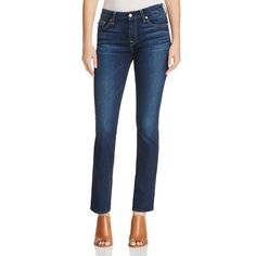 10 Best Straight Leg Jeans -#7 7 For All Mankind Kimmie Straight Jeans in Santiago Canyon #rankandstyle