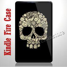 Floral Sugar Skull Kindle Fire Case