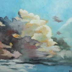 Clouds original oil painting (you will never leave my side)