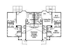 Turnberry Place Duplex Home Plan 007D-0243 | House Plans and More