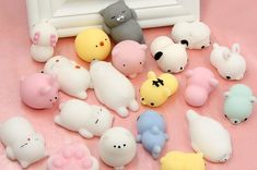 Mobile Phone Straps Cellphones & Telecommunications Aspiring Japanese Style Kawaii Squeeze Toy Mini Mochi Squishi Squishy Slow Rising Diy Kids Stress Relief Gift Healing Props Diy Decor Bracing Up The Whole System And Strengthening It