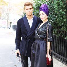 Ulyana & Frol outside Dior