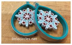 Complete video tutorial to learn how to make these Suspended Snowflake earrings. Find all supplies and further instruction at www.littlecircles.net