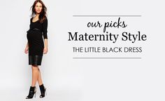 Little Black Maternity Dresses - Project Nursery