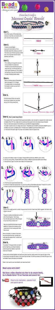 Instructions on how to make Shamballa style bracelets.