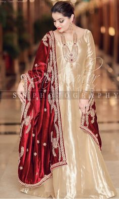 Brides family member at the nikkah Pakistani Fashion Party Wear, Pakistani Wedding Outfits, Pakistani Bridal Dresses, Pakistani Dress Design, Indian Fashion, Nikkah Dress, Shadi Dresses, Pakistani Formal Dresses, Indian Dresses