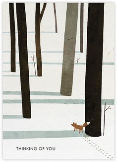 Fox in the Snow (Jon Klassen) - Paperless Post