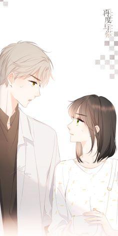 Emo Anime Girl, Anime Girl Pink, Pretty Anime Girl, Cute Anime Boy, Anime Couples Drawings, Anime Couples Manga, Manga Anime, Manhwa, Romantic Anime Couples