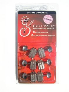 Grover Vintage Deluxe 136N Guitar Tuners/Machines by Grover. $50.96. Vintage Deluxe (136N Series)  14 to 1 Ratio  3 Treble and 3 Bass, Set 0f 6, Nickel Finish  Fits Most Guitars Without Modifications  (Hole size .391 ~25/64). Save 28%!