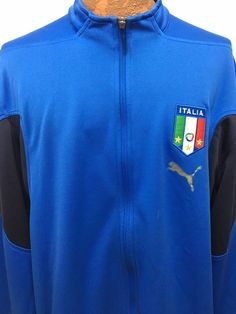Italia Italy Puma Neill Barrett Football Soccer Blue Warm-Up Jacket Mens 2XL  #Puma #Italy