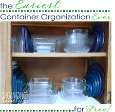 Organize your containers and end the piles of randomness with Organizing Homelife
