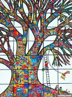 Collaborative art project. imaginative and inspiring.