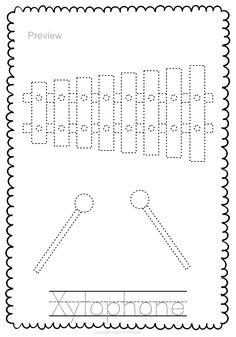 xylophone coloring page | kleurplaten muziek | Pinterest